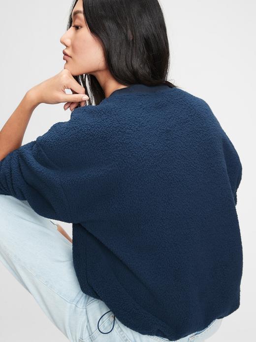 Kadın Lacivert Gap Logo Sherpa Sweatshirt