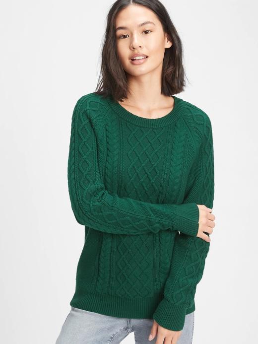 Kadın Yeşil Yuvarlak Yaka Örme Kazak