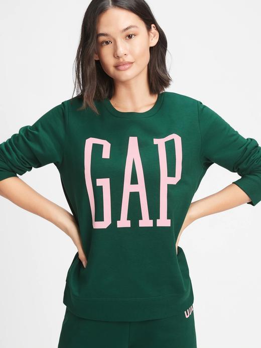 Kadın Yeşil Gap Logo Yuvarlak Yaka Sweatshirt