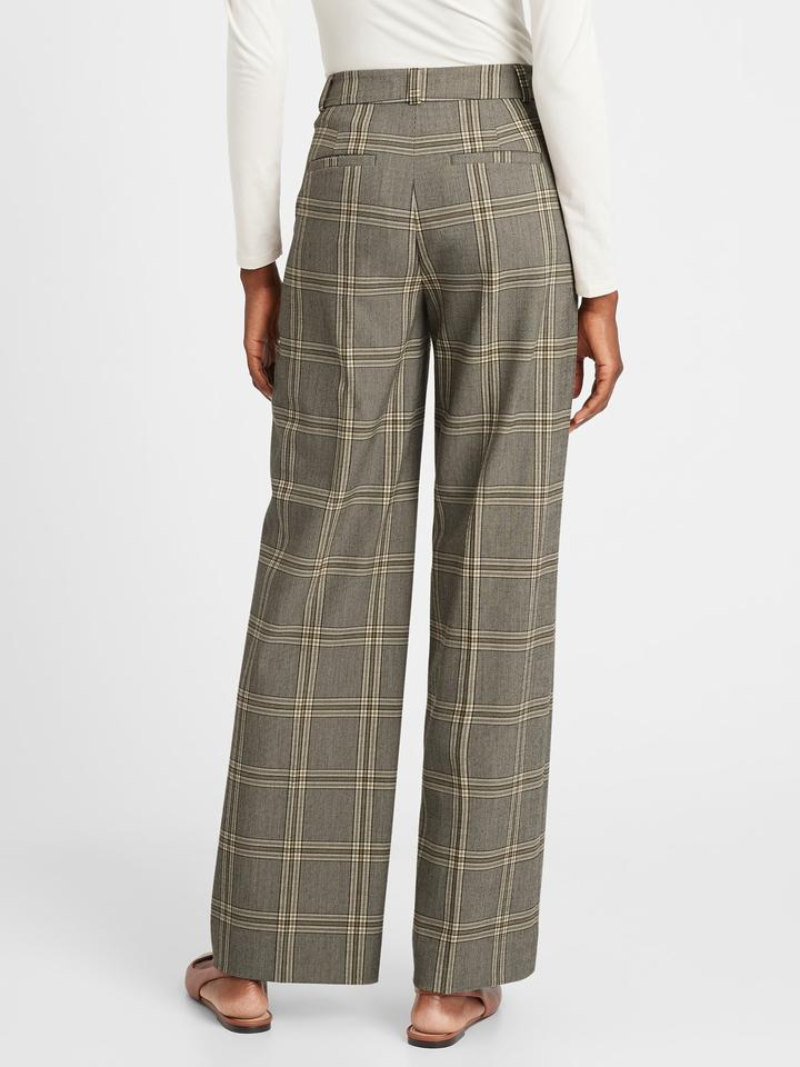 Kadın Kahverengi High Rise Slim Wide Leg Pantolon