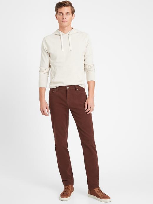 Erkek Kahverengi Slim Fit Traveler Pantolon