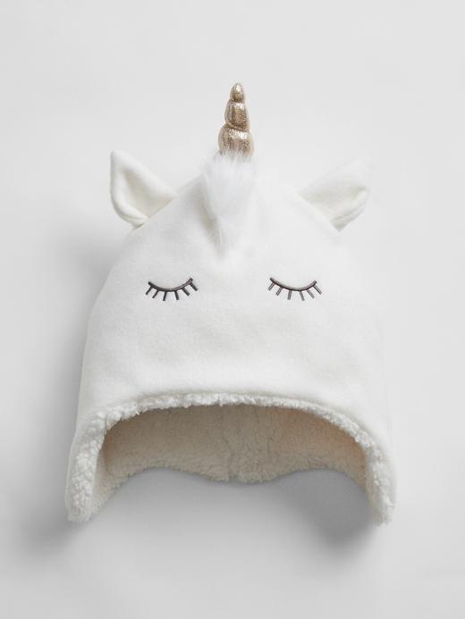 Kız Çocuk beyaz Unicorn Polar Bere