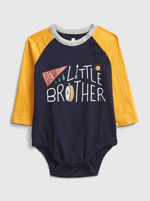 Erkek Bebek Lacivert Renk Bloklu Uzun Kollu Body