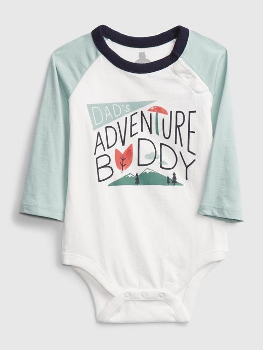Erkek Bebek beyaz Renk Bloklu Uzun Kollu Body
