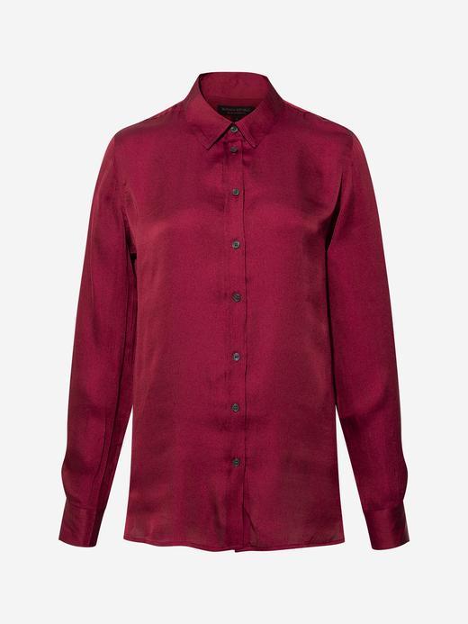 Kadın Kırmızı Dillon Classic-Fit Gömlek