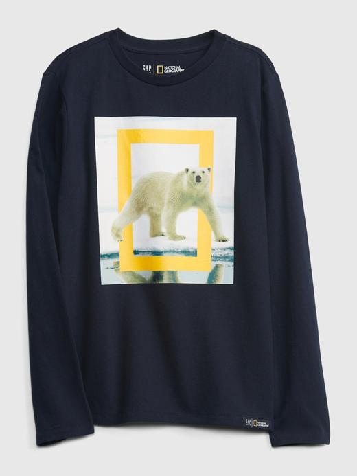 Erkek Çocuk Lacivert National Geographic Grafik T-Shirt