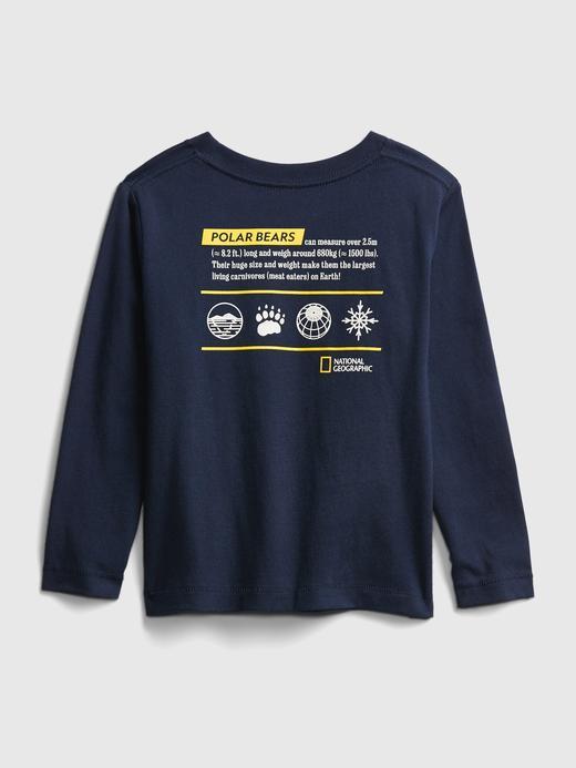 Erkek Bebek Sarı National Geographic Grafik T-Shirt
