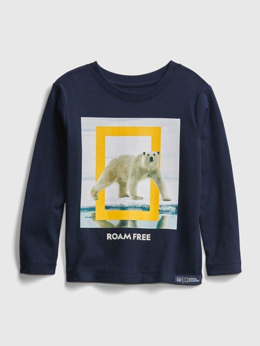 Erkek Bebek Lacivert National Geographic Grafik T-Shirt