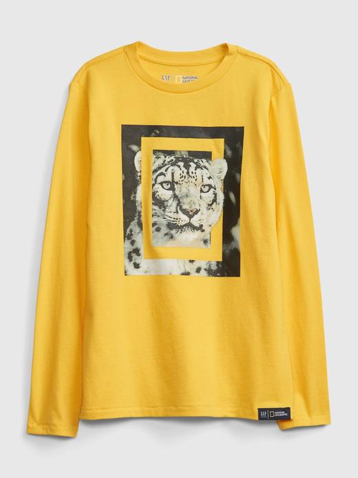 Erkek Çocuk Sarı National Geographic Grafik T-Shirt