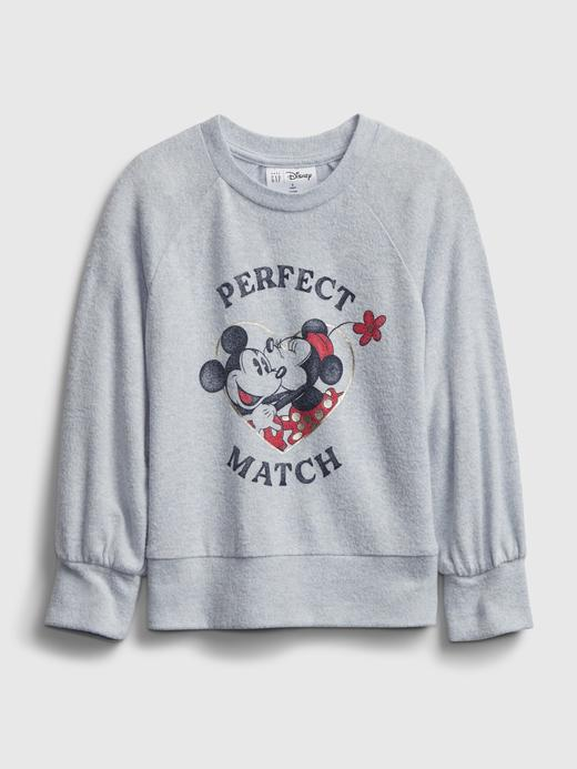 Kız Bebek Gri isney Mickey ve Minnie Mouse Grafik T-Shirt