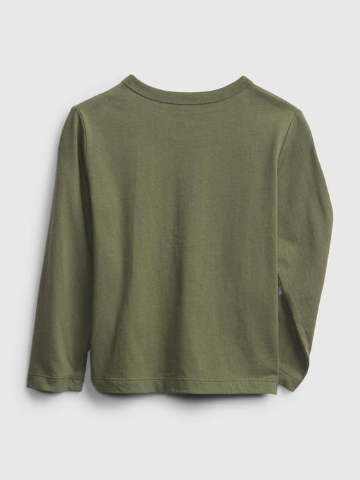 Erkek Bebek Lacivert Grafik Uzun Kollu T-Shirt