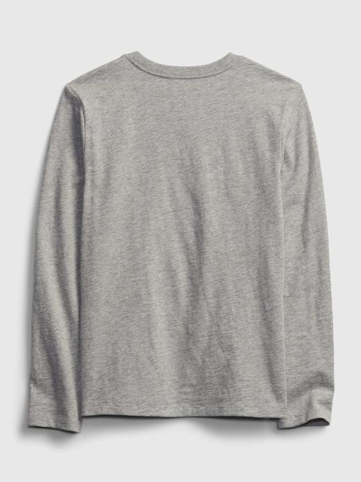 Erkek Çocuk Beyaz Gap Logo Uzun Kollu T-Shirt