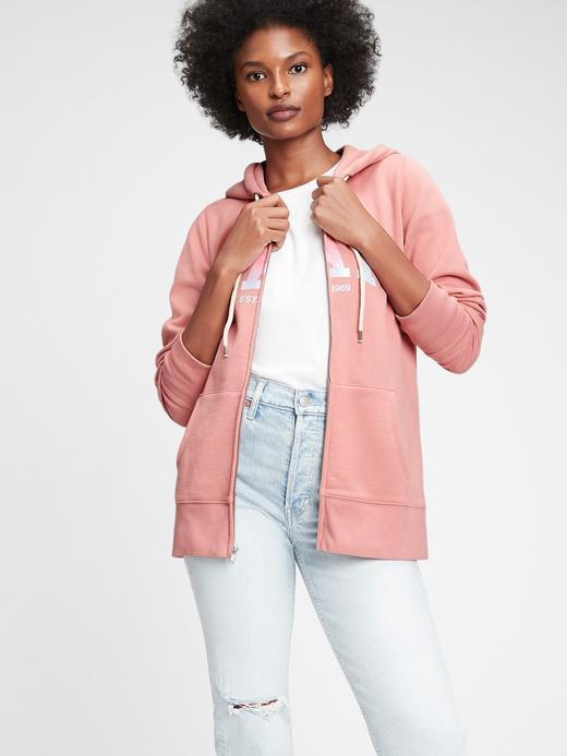 Kadın Pembe Gap Logo Kapüşonlu Sweatshirt