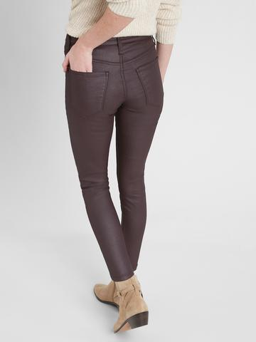 Kadın BROWN/BLACK High-Rise Skinny Jean Pantolon