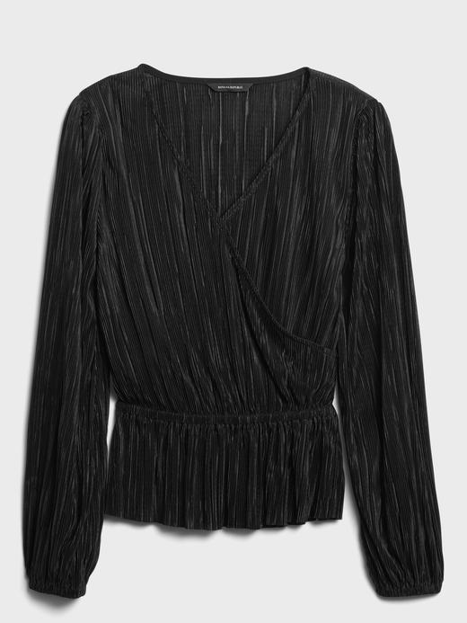 Kadın FIRE BRICK Pırıltılı Kruvaze Bluz