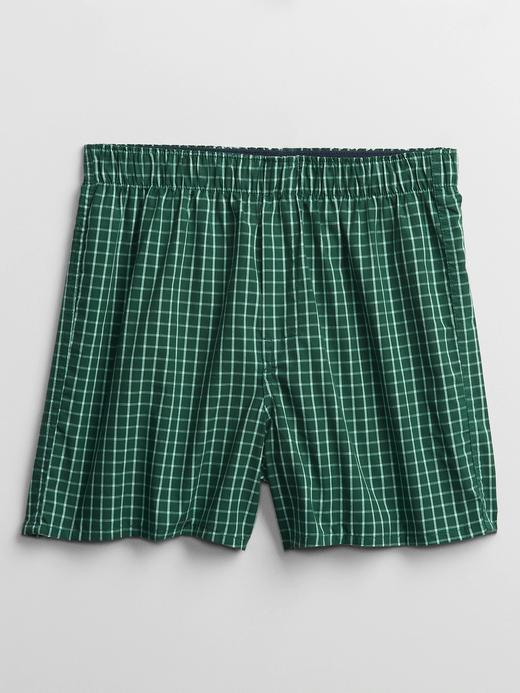 Erkek Yeşil Desenli Boxer
