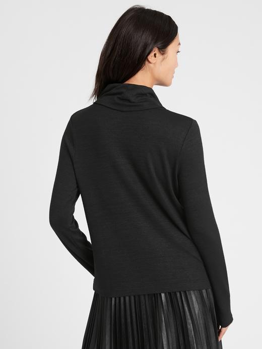 Kadın Mor Luxespun Dökümlü Yaka Bluz