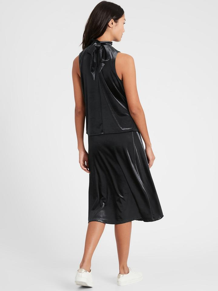 Kadın BLACK Halter Yaka Kadife Bluz