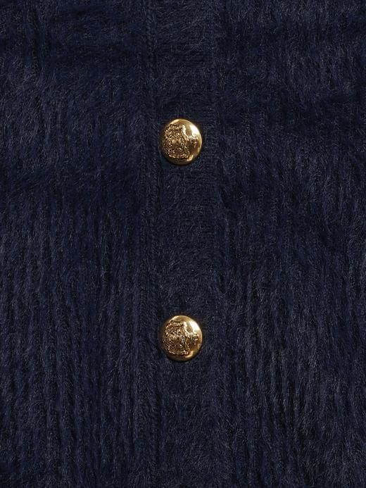 Kadın BURNT CARAMEL Cropped Düğmeli Hırka