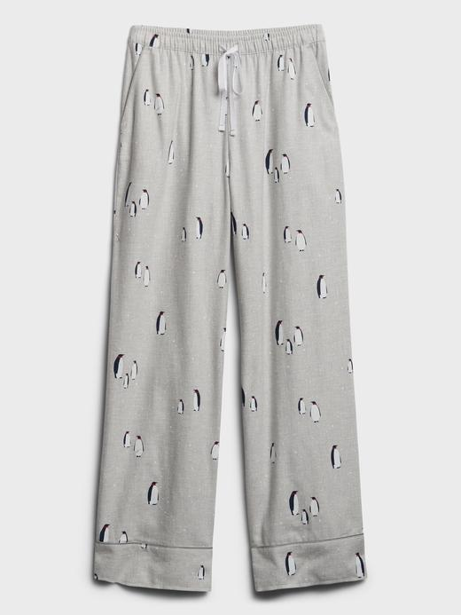 Kadın Gri Desenli Pijama Altı