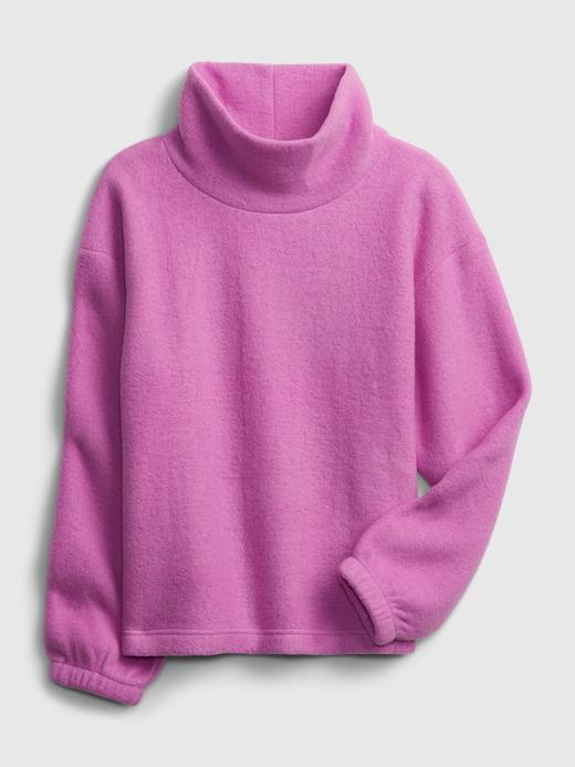 Kadın mor Balıkçı Yaka Polar Sweatshirt