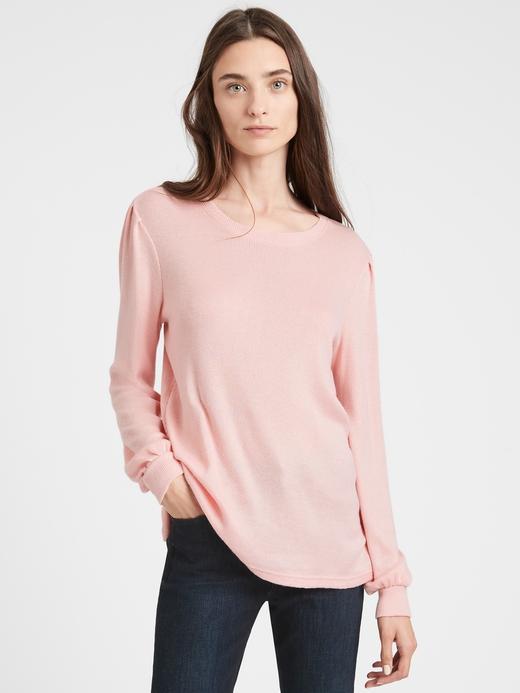 Kadın BLUSH Balon Kollu Cozy Bluz