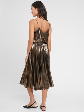 Kadın GOLDEN RAYS Metalik Askılı Bluz