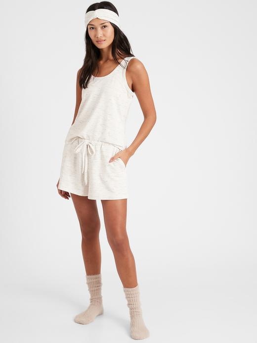 Kadın Bej Baby Terry Pijama Takımı