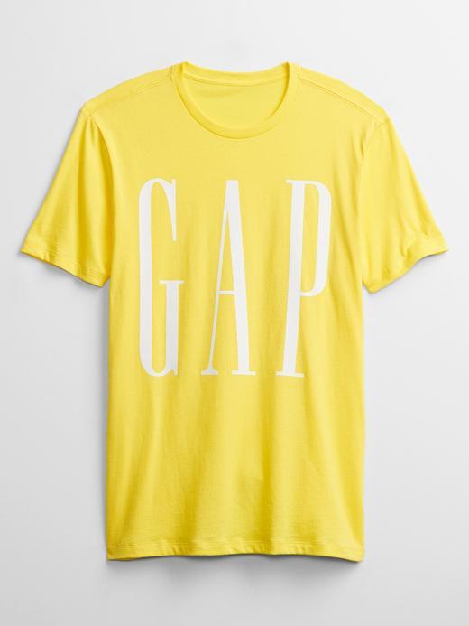 Erkek Sarı Gap Logo Kısa Kollu T-Shirt