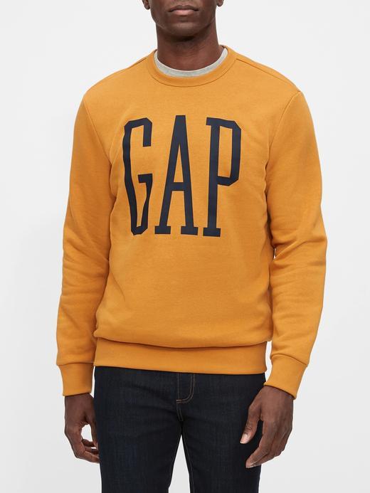 Erkek Sarı Gap Logo Yuvarlak Yaka Sweatshirt