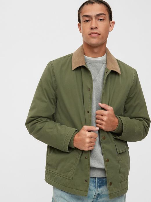 Erkek Yeşil Utility Ceket
