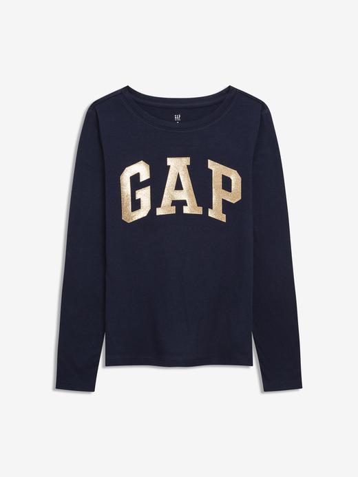 Kız Çocuk Lacivert Gap Logo Uzun Kollu T-Shirt