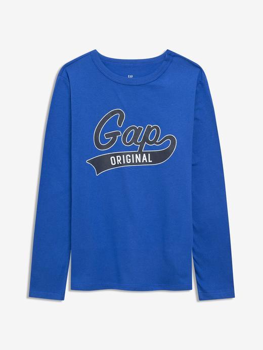 Erkek Çocuk Lacivert Gap Logo Uzun Kollu T-Shirt