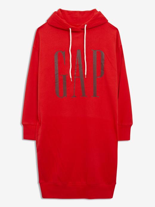 Kadın Kırmızı Gap Logo Sweatshirt Elbise