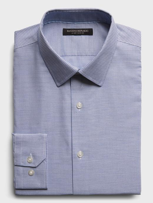 Erkek Mavi Slim-Fit Hi-Dri Gömlek