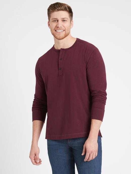Erkek  Cozy Henley T-Shirt