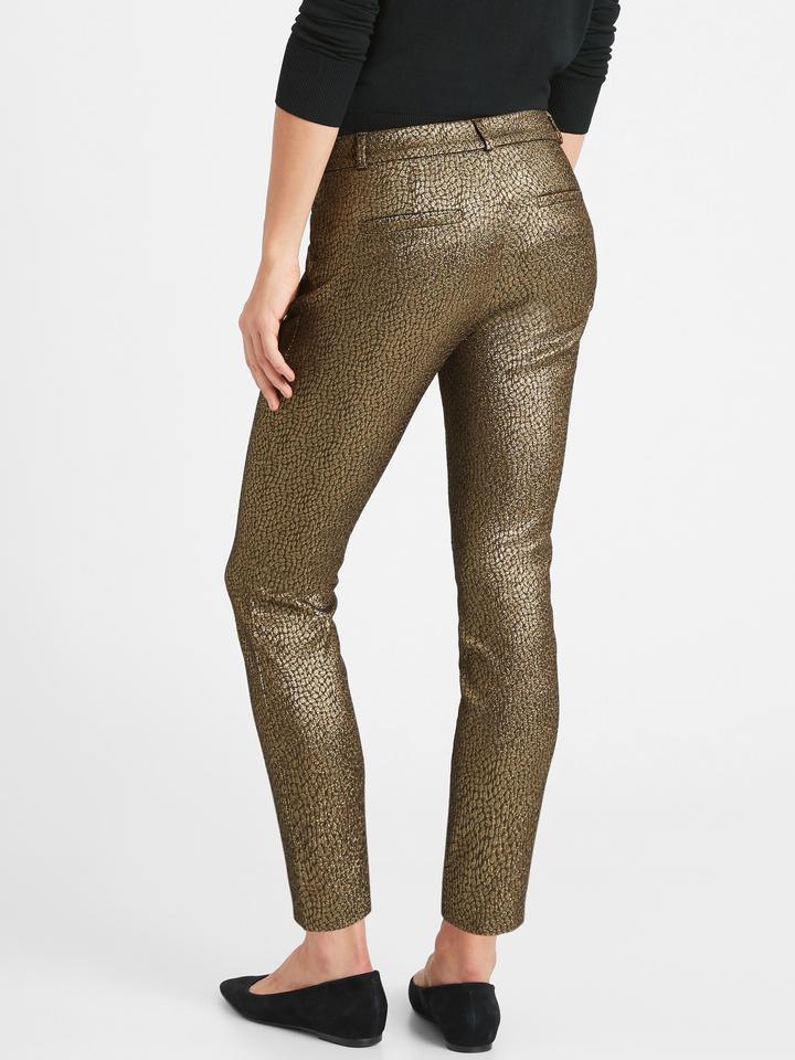 Kadın GOLD Mid-Rise Skinny Sloan Pantolon