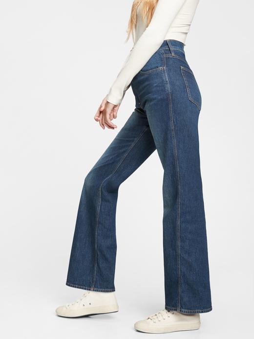 Kadın  High Rise Vintage Flare Jean Pantolon