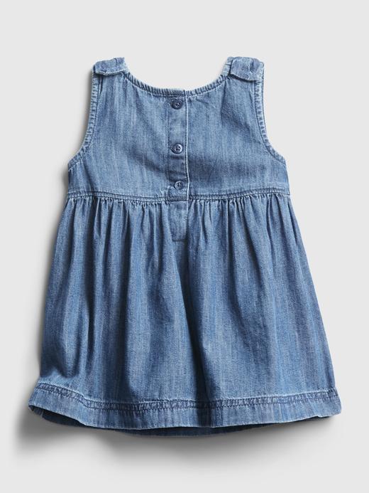 Kız Bebek Mavi Denim Elbise