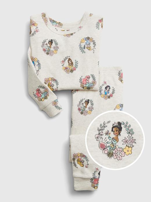 Kız Bebek Beyaz Disney Princess Pijama Takımı