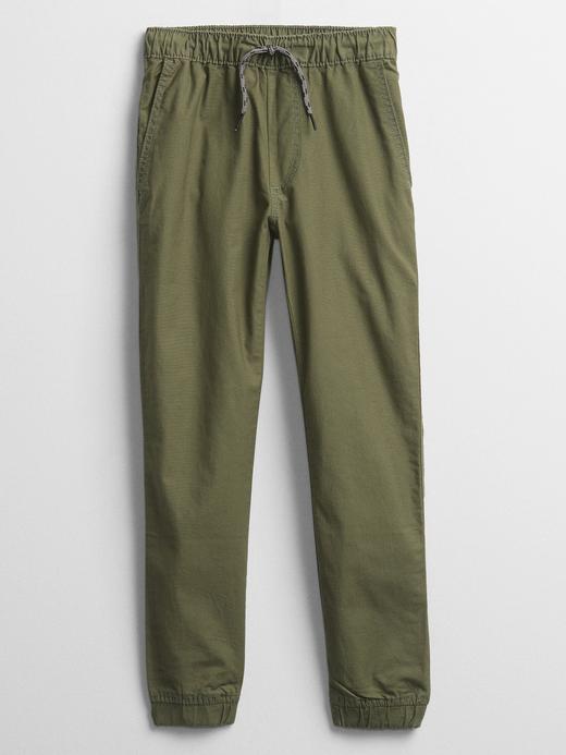 Erkek Çocuk Yeşil Pamuklu Jogger Pantolon