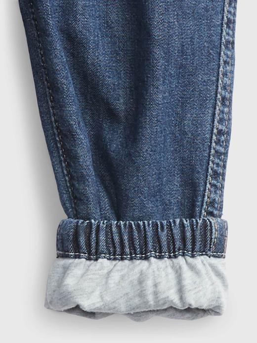Erkek Bebek Lacivert Pull-On Jogger Denim Pantolon