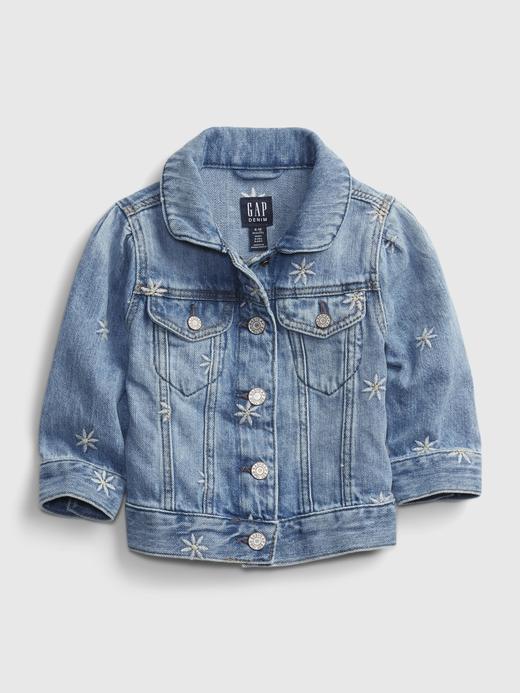 Kız Bebek Mavi Denim Ceket