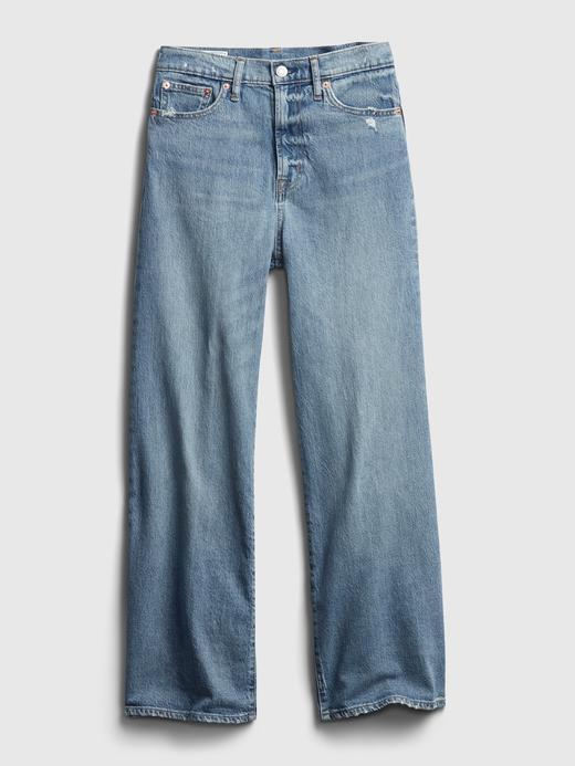 Kadın MEDIUM INDIGO 27 High Rise Wide-Leg Jean Pantolon