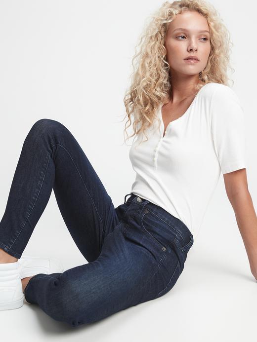 Kadın Lacivert High Rise Skinny Jean Pantolon