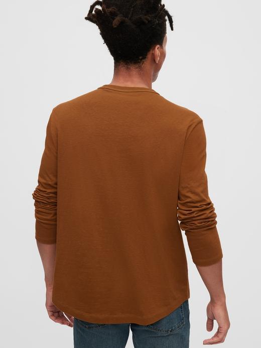 Erkek Bej Uzun Kollu T-Shirt