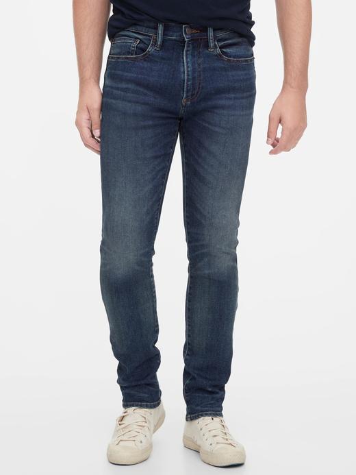 Erkek Lacivert Gap Flex Skinny Jean Pantolon