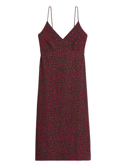 Kadın  Askılı Kırışıklığa Karşı Dayanıklı Elbise