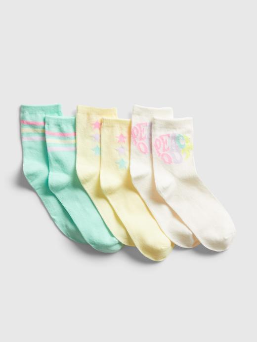 Kız Çocuk  3'lü Grafik Çorap Seti