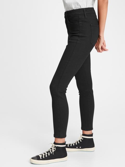 Kadın Siyah High Rise Universal Jegging Jean Pantolon